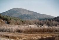 Jezevčí vrch - vypreparované vulkanické těleso v křídových sedimentech, Jaroslav Valečka, 2003