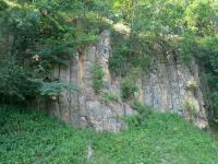 Kamenný vrch - opuštěný stěnový lom založený v bazaltech, Bedřich Mlčoch, 2003