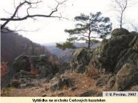 Vyhlídka na vrcholu Čertových kazatelen, Vratislav Pecina, 2002
