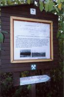 Panel naučné stezky provázející po zbytcích těžby v rudolfovském rudním revíru, Markéta Vajskebrová, 2003