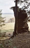 Čertova skála - relikt původní úrovně pískovcového hřbetu Klůček, Pavla Gürtlerová, 2003