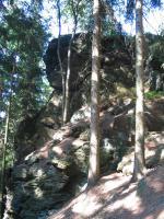 Skalní hrad na jz.svahu Šišáku, Bedřich Mlčoch, 2003