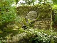 Pamětní deska s prtétem J. W. Goetheo u vstupu na naučnou stezku., Pavla Gürtlerová, 2007