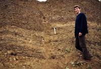 Zlom porušující jezerní horniny slánského souvrství karbonu plzeńské pánve, Marcela Stárková, 2002