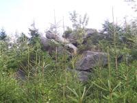 Vrcholové skalní torzo na kótě Myslivna 1040 m n.m, Jiří Rypl, 2004