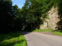 Skalní stěna na začátku údolí v místě, kde Orličský potok proráží  ortoruly (v. okraji Jablonného nad Orlicí)., Pavla Gürtlerová, 2011