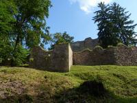 Hradby Litického hradu na výchozech