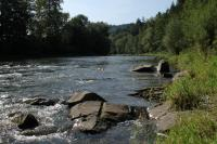 Výchoz křivských vrstev zlínského souvrství v korytě řeky Bečvy. , Roman Novotný, 2010