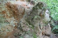 Skalní výchoz lukovských vrstev u řeky Rožnovská Bečva., Roman Novotný, 2011