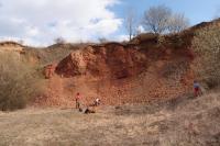 Přírodní památka Medlovický lom - odkrytá lomová stěna., Pavla Gürtlerová, 2012