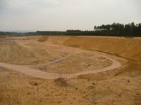 Pohled k J z okraje přírodní památky Váté písky do činné pískovny., Lucie Kondrová, 2012