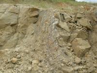 Pohled na pískovcové vrstvy v lomu v Polici se silně rozvětralými pískovci lukovských vrstev., Oldřich Krejčí, 2010