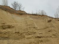Subhorizontálně uložené písky spodního badenu v podloží štěrků tuřanské terasy., Pavla Tomanová Petrová, 2012