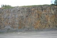 Sloupcová odlučnost bazanitu odkrytá v lomové stěně činného lomu Smrčí., Vladislav Rapprich, 2011