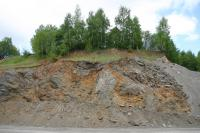 Relikt bezkořenného kráteru odkrytý v lomu Smrčí., Vladislav Rapprich, 2011