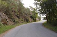 Výchozy serpentinitů u silnice jižně od Mohelna nad údolím Jihlavy. , Pavla Gürtlerová, 2012
