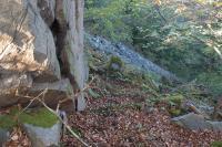 Hřbet tvoří proterozoické horniny svrateckého krystalinika - dvojslídné, často granátické, svory, které se střídají v úzkých pásech S-J směru s dvojslídnými migmatity, ortorulami a krystalickými vápenci. Suťová pole na východních svazích., Pavla Gürtlerová, 2012