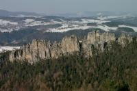Pohled na Suché skály od Besedických skal ze Sokola., Motyčková Kamila - Šír Jiří, 2005