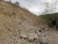 Stěna bývalé těžebny v badenských píscích s polohami biodetritických vápenců., Pavla Tomanová Petrová, 2014