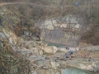 Jámová těžba žuly u obce Srní., Jan Doucek, 2008