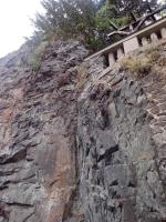 žíla andezitu s odžilkem, diskordantně proráží sedimenty neoproterozoika, Pavel Bokr, 2015