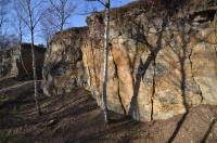 Opuštěný stěnový lom založený ve vápnitých pískovcích jizerského souvrství české křídové pánve. Lomové stěny představují odkrytý stratigrafický profil svrchního a středního turonu s četnými zkamenělinamiy tzv. jizerské křídy., Motyčková Kamila - Šír Jiří, 2015
