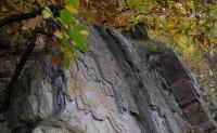 Na povrch zde vycházejí svrchní polohy dobrotivského souvrství ordoviku vyvinuté ve facii skaleckých křemenců. Významná je 12 m mocná vrstva břidlic, následek prohloubení této části pražské pánve., Radek Mikuláš, 2012