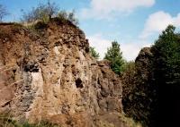 Návrší se zbytkem třetihorního (neogenního) sopečného tělesa, tvořeného zejména pyroklastickými uloženinami s vulkanickou brekcií (tzv. babinou), prostoupenou čedičovou (bazanitovou) žílou. , Jan Vítek, 2015