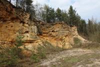 Asi 1,5 km dlouhé defilé ve starosedelském souvrství je tvořeno písky, štěrky, pískovci, slepenci a prachovitými kaolinitovými jíly. Významná paleontologická lokalita., Motyčková Kamila - Šír Jiří, 2015