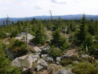 Skalnaté vrcholové partie kóty Oblík (1225 m)tvořené stromatitickým migmatitem., Pavla Gürtlerová, 2009