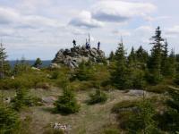 Skalnatý vrcholý kóty Oblík (1225 m)tvořený stromatitickým migmatitem., Pavla Gürtlerová, 2009