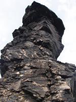 Skalní útvar Vysoký kámen je tvořen odolným prvohorním křemencem místy s hojnými čočkami a žilkami křemene., Markéta Vajskebrová, 2017
