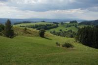 Pohled od Rudného vrchu na Broumovsko, v pozadí Krkonoše., Pavla Gürtlerová, 2017