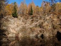 Opuštěné  a částečně zatopené lomy na pokrývačské želenobrodské břidlice., Markéta Vajskebrová, 2017