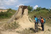 Písky karpatu a konkrece zpevněné uhličitanem vápenatým v pískovně v Litenčicích., Pavla Tomanová Petrová, 2018