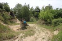 Písky karpatu a konkrece v pískovně v Litenčicích, celkový pohled., Pavla Tomanová Petrová, 2018