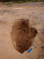 Příležitostná malá těžba písků ze staré mělké pískovny s glaciofluviálními sedimenty., Markéta Vajskebrová, 2018