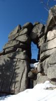 Ojedinělé skalní okno na Pytláckých kamenech., Markéta Vajskebrová, 2019