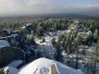 Pohled z vrcholu Jelení stráně na severozápení část Středního Jizerského hřbetu., Václav Vajskebr, 2014